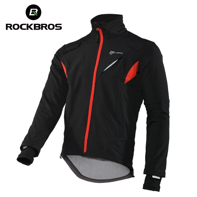 ROCKBROS Hiking Fleece Jersey Windproof Thermal Long Fishing Jacket Waterproof Bike Sport Jerseys Winter Reflective Clothing<br>