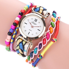 The Latest Multicolor Beads Women Watches Bracelet Quartz Watch Exquisite Gift Wrist relogio Damske Hodinky(China)