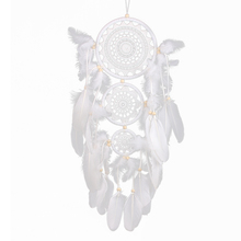 New Originality Big Hot White Dreamcatcher Wind Chimes Indian Style Pearl Feather Pendant Dream Catcher Gift