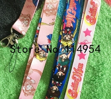Free shipping 10 Pcs /Wholesale lots Japanese anime Sailor Moon  Necklace Strap Lanyards Cell Phone PDA Key ID Strap Charms