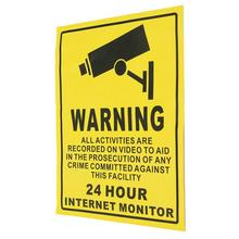 giantree Video Security Decals CCTV Security Sticker Warning Sign Sticker Portable Premium 140mmx110mm Yellow Waterproof(China)