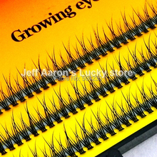 3 trays 120 Natural Long Black Individual False Eyelashes Eye Lash Extension Kit Makeup Tool ZY6B(China)