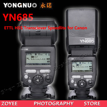NEW YONGNUO YN685 2.4G Wireless ETTL HSS 1/8000s Radio Slave Mode Flash Speedlite for Canon,Compatible with YN622C(China)