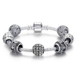 Женский браслет с кристаллическими бусинами