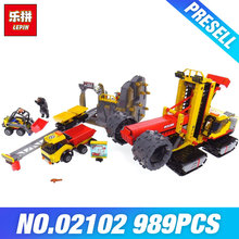 Lepin 02102 Genuine Toys 989Pcs City Series The 60188 Mining Experts Site Set Building Blocks Bricks Funny Toys Model Kids Gifts(China)