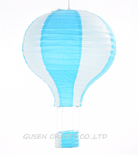3Pcs/lot 12inch Rainbow Hot Air Balloon blue Paper Lantern Fire Sky Lantern for Wedding/Birthday Party/Christmas Decoration(China)