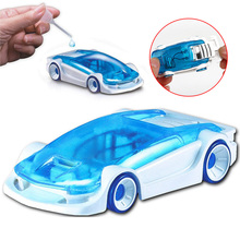 DIY Kits Salt Water Fuel Cell Car Green Energy Assembled Toys For Kids Children Creative Education Toy Vehicles @Z335