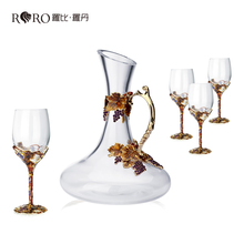 Robbie Luo Dan, Golden Harvest crystal glass red wine decanter wine set a wedding gift.