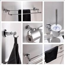 new Modern sanitary hardware set chrome Finished Bathroom Accessories Products ,Towel Holder,Towel Bar towel ring set(China)