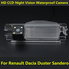 Car CCD 4 LED Night Vision Reverse Backup Parking Waterproof Reversing Rear View Camera For 2013 Renault Dacia Duster Sandero(China)