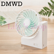 DMWD Rechargeable Mini USB Desk Fan Lithium Battery Air Conditioner cooling fan Portable 4 Blades cupula Conditioning Ventilador