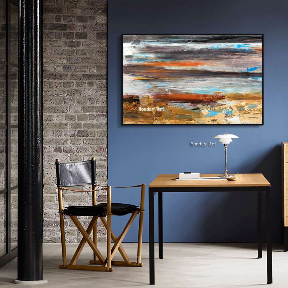 Large-oil-Painting-on-canvas-Abstract-Art-Modern-yellow-Level-acrylic-Painting-Canvas-Art-Living-Room (2)