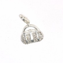 Thomas Style Silver Color Pink Bag Charm for Bracelet European Beautiful Women Jewelry Romantic Piercing Wanita Cantik Bijoux(China)