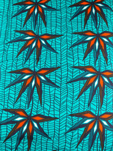 Wholesale African Fabric Suppliers HOLLANTEX Green Orange Bamboo Designs htw70510(China)