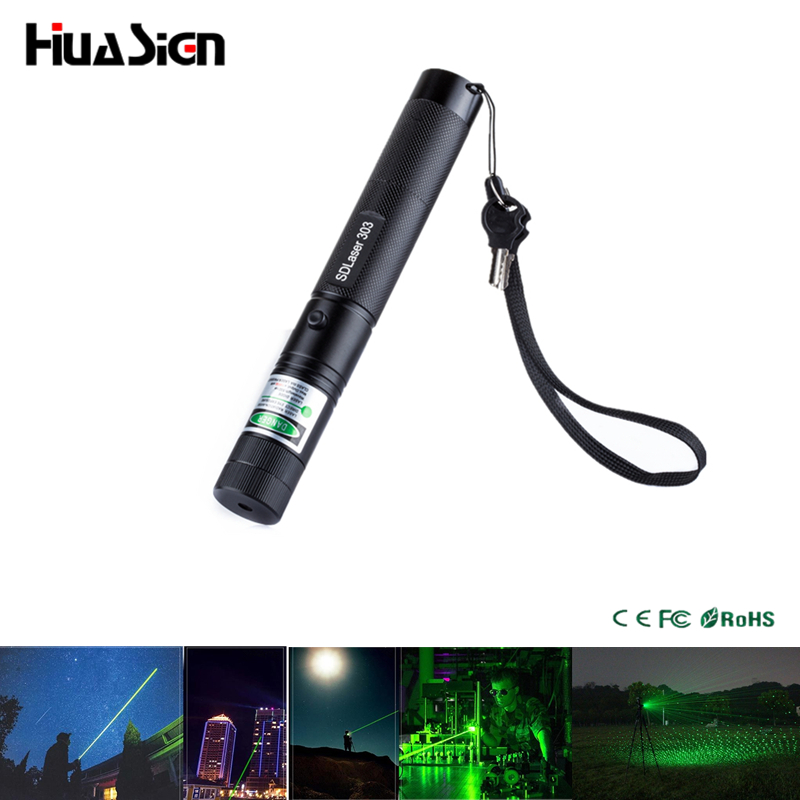 Hot selling! Point and Starry 303 Laser Pointer High Power Adjustable Focus Green Laser Pen Lazer with Safe Keys(China (Mainland))