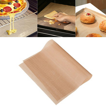 PTFE Coating Fiberglass Fabric Barbecue Grill Mat for Microwave Oven Outdoor BBQ Accessories 34*23cm #88065