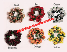 "Hot Sale!!! (72pcs/lot) X 1.5"" Seed Candle Ring Spring Candle Wreath Mix 6 Colors *FREE SHIPPING *(China)"