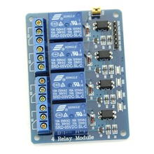OOTDTY 5V 4 Channel Relay Module with Optocoupler For PIC/AVR/51 for Arduino Single Chip