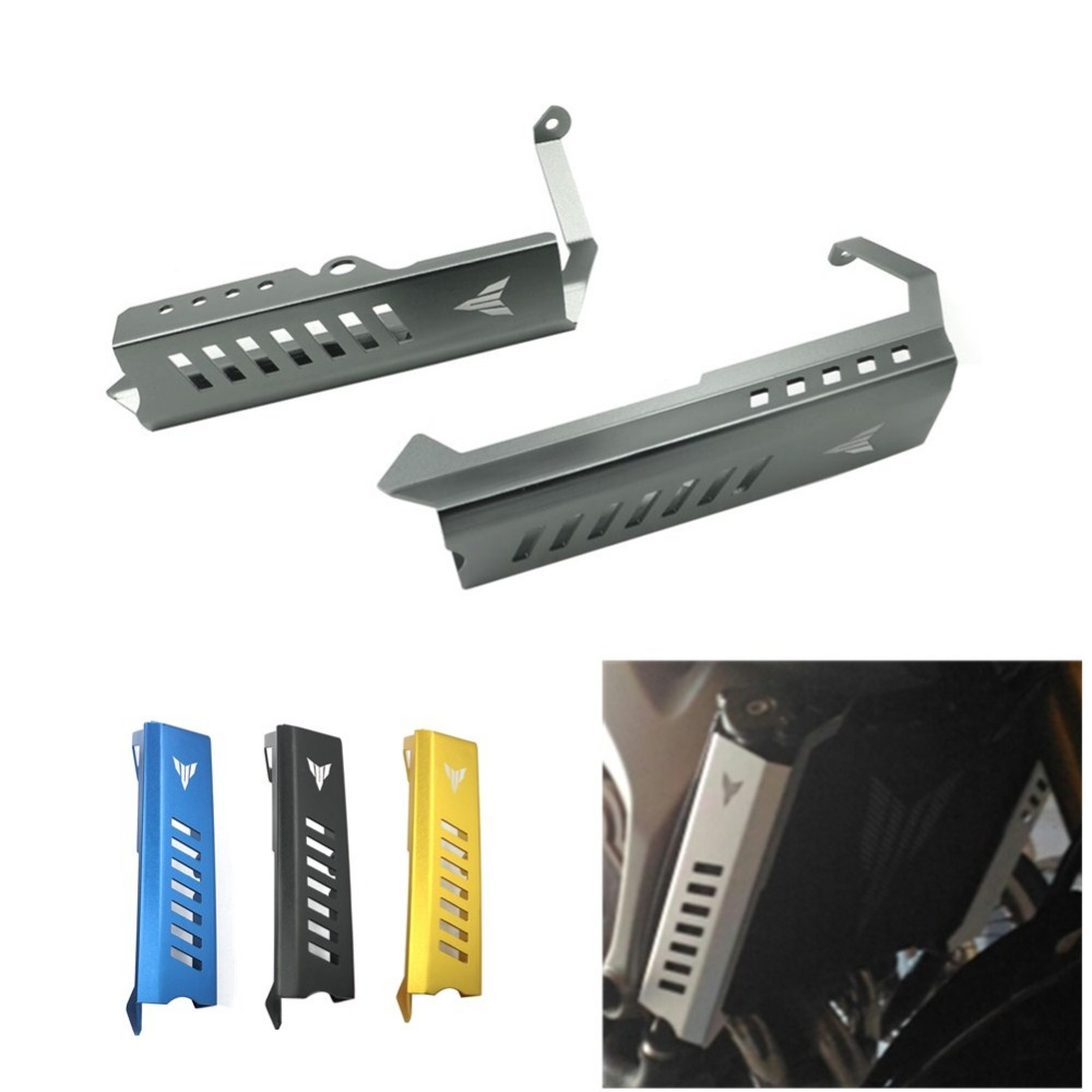 Motorcycle Parts Radiator Side Cover Guards Protector Set For Yamaha MT09 FZ09 MT-09 FZ-09 2014 2015 2016<br>