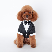 Pet Dog Cat Tuxedo Bow Tie Clothes Puppy Wedding Party Pet Shirt Costumes(China)