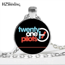 NS-00803 Music Band Twenty One Pilots Necklace Art Picture Glass Dome Jewelry Long Chain Men Steampunk Pendant Necklaces HZ1
