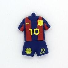Fashion Pendrive 128GB USB Flash Drive 64GB 32GB 16GB 8GB Pen Drive  Barcelona Soccer Jersey Barca 84b41654673
