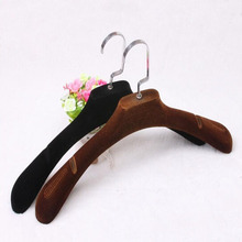 SorPlus Luxury Thick Velvet Hanger for Coat , with Groove,Suits Style (8 Pieces/ Lot)(China)