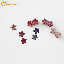 10 Pieces/Pack 20 Candy Color Scrub Flower Hairdress for Children Resin Mini Hairpin Little Girls Hair Jewelry Gift Souvenirs