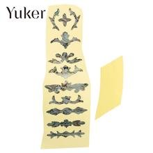 Yuker Beautiful Electric Guitar Bass Inlay Sticker Fret Fretboard Marker DIY Decor(China)