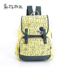 Mochilas Mochila Feminina Korean Student Backpack School Monogrammed Canvas Bag Ladies Wind Brand Wholesale Of Middle Students