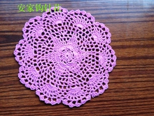European luxury ZAKKA 20pic/lot lace doily placemat with flowers cup pads as kitchen accessories household innovative item home(China)