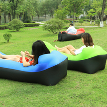 wholesale High quality Inflatable lazy sofa in sleeping bag lazy bag sofa lounger air bean bag chair inflatable camping air sofa(China)