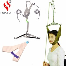 Hopeforth Cervical Traction Over Door Neck Massager Device Kit Neck Stretcher Stretching Chiropractic Head Relaxation