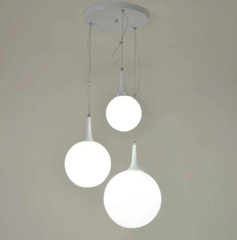 Glass ball pendant lights white restaurant living room lights D15/20/30CM  stair Study clothing store Pendant lamps ZA<br>