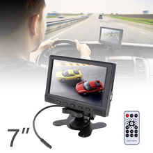 7 Inch TFT LCD Car Rear View Monitor Digital Panel Color Auto Rearview Reverse Parking Monitor Built-in Speaker Support USB