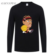 New Men T Shirt Cartoon Allen Iverson T Shirt Cotton Long Sleeve Men T-Shirt  Tees Top High Quality