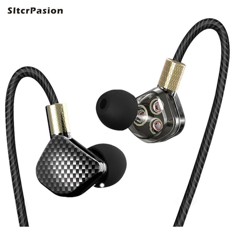 SltcrPasion New 6 Dynamics HiFi Phone Earphone Bass Subwoofer Surround Earphones Monitor Ecouteurs Auricolari Earbuds Headphone<br>