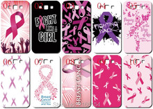 Lot Breast cancer plastic Hard Cover For Samsung Galaxy S2 S3 S4 S5 Mini S6 S7 Edge Plus Note 2 3 4 5 Mobile Cell phone Case(China)