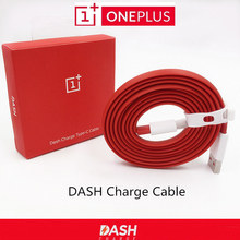 Original ONEPLUS 5 3 3T Dash Charge Cable 100cm/150cm Red Noodles Fast Charger Cable For One plus Three Five Mobile Phones(China)
