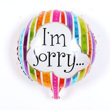 50pcs/lot 18 inch round letter i'm sorry balloon for festival love wedding party supplies decoration foil balloons mylar balloon(China)