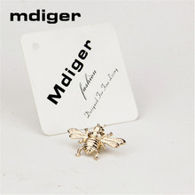 Mdiger Bee Brooch Shirt Collar Clip Jewelry Needles Collar Tips Men's Suits Lapel Pin for Wedding Buttons Corsage 10 PCS/LOT