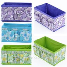 Folding Multifunction Brand New 1pc Flowers Woven Cosmetic Storage Box Multicolor Gift For Family