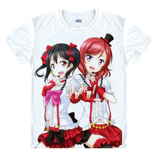 lovelive T-Shirt Eli Ayase Shirt breathable t-shirts Anime awesome gifts Mens Designer T-Shirts anime cartoon Girl Cute T-shirt