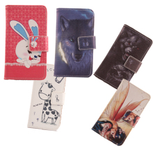 ABCTen Painting Design Leather Skin Book Design Wallet Holster Card Slot Case For Utime Smart PDA S55 Cell Phone Cover