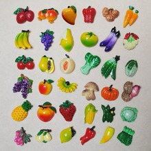 5 pieces Fruit Organic Vegetable Fridge magnet home decoration Banaa Corn Cherry Lemon refrigerator sticker decals