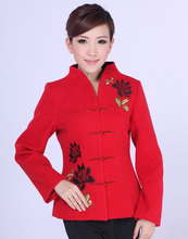 Free shipping Hot Sale New Style Chinese Tradition Women's Flower Jacket Coat M L XL XXL 3XL