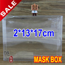 10 pcs/lot2*13*17 cm / facial mask package box / clear boxes / cosmetic packaging / gifts & crafts / cases & display / 100% gua
