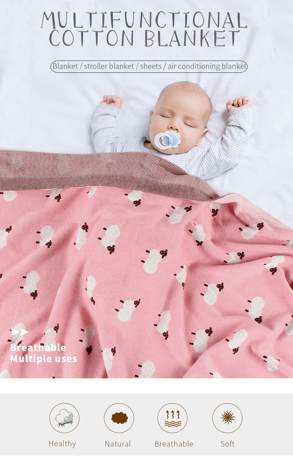 """30/""""x40 New Premium Quality Swan Lake  Made of 100/% Polyester Baby Soft Blanket"""