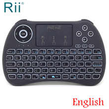 [Free Shipping] 2017 Original Rii H9+ Mini 2.4G Wireless English Version Keyboard+TouchPad Mouse with Backligth High Quality
