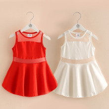 Baby color dress 2017 summer new girls wear gauze  qz-4081 children's personality perspective